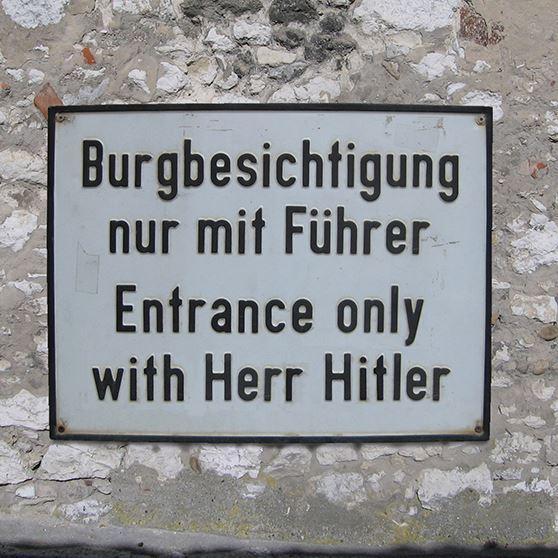 Nur mit Führer.